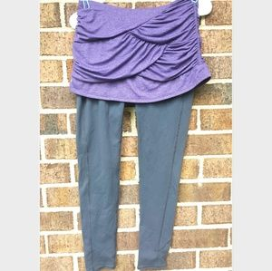 Athleta 930142 Purple Skirt with Grey Leggings